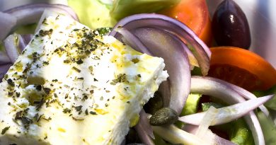 Greek salad from Santorini island