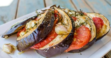 Stuffed eggplant with mozzarella