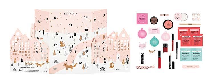 Празнични козметични подаръци Winter Wonderland на Sephora
