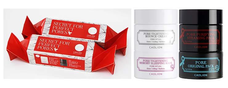 Празнични козметични подаръци Pore Tightening Day&Night Glowing Duo Cracker на Caolion