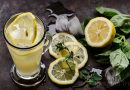 Lemonade with mint and basil suitable for hot days