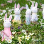 Великденски зайчета от яйца и картон