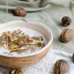 Закуска с амарант, орехи и мед