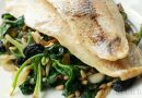 Haddock with spinach