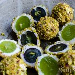 Grape and goat cheese bites