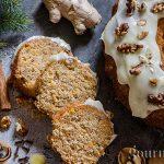 Морковена торта с крема сирене и джинджифил