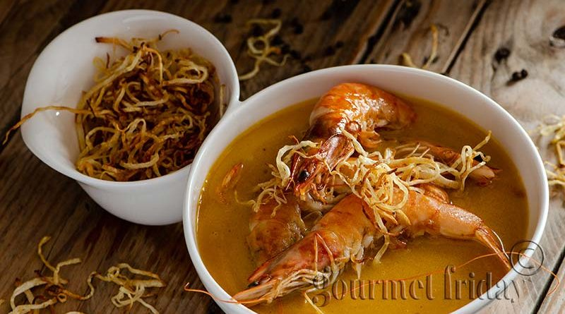 Супа от тиква със скариди