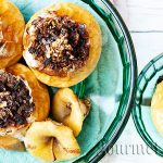 Baked apples with walnuts and cinnamon