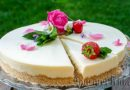 Lemon cheesecake with rusk without baking