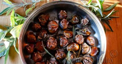 Roasted chestnuts with sage and sea salt