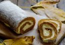 Pumpkin roulade with Philadelphia, cinnamon and cloves