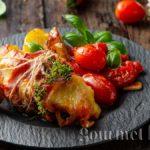 Пиле с прошутои моцарела по италиански