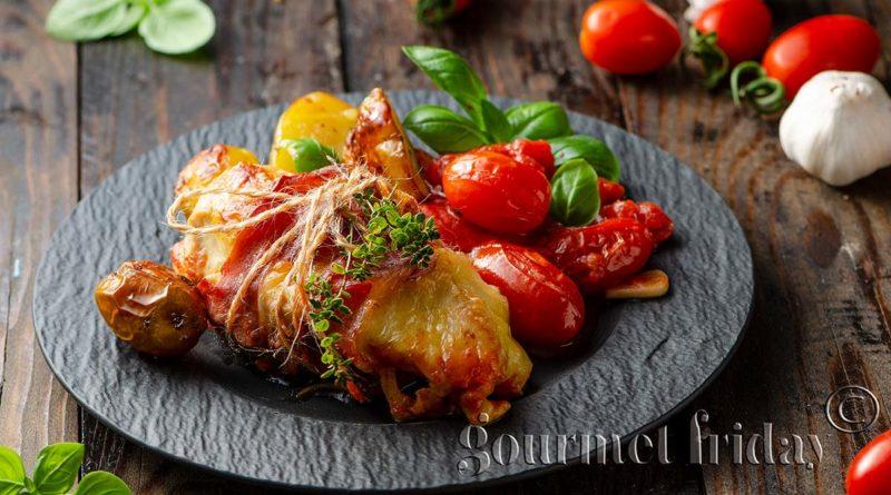 Пиле с прошутои пармезан