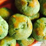 Chinese cookies with green peas.