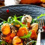 Salad with cooked chestnuts