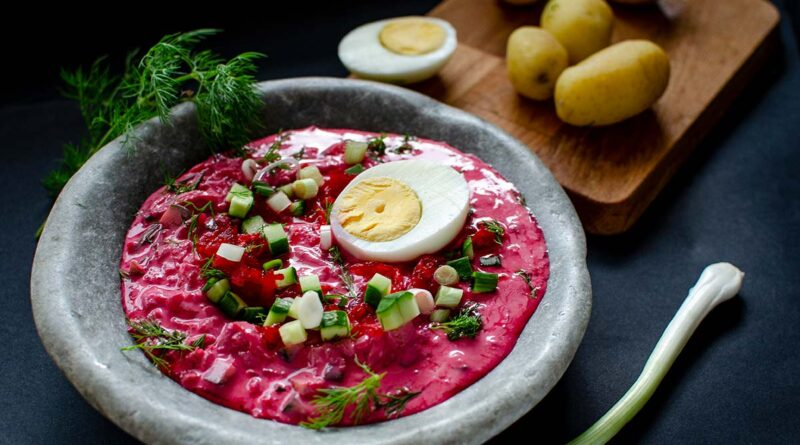 Cold beetroot soup – recipe from Lithuania