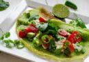 Зелени палачинки със спанак и салата
