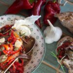Италианска салата с печени чушки