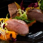 Duck magret with carrot puree